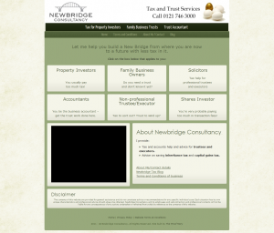 An example of affordable web design