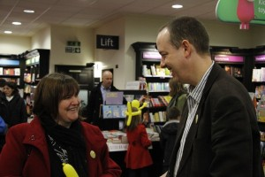 Me with author Peter Jones at his book launch in Southend